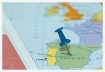 Designvorlage Spanien Landkarte - Umschlag