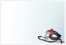 Designvorlage Venedig Karnevalsmaske - Umschlag