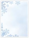 Designvorlage Schnee- Innenseite links