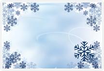 Designvorlage Schnee- Umschlag