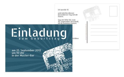 Einladungskarten zum Jugend-Geburtstag | druckstdu.de
