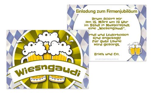 einladungskarte zum firmenjubiläum | druckstdu.de, Einladung
