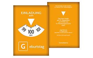 Einladungen zum 100. Geburtstag | druckstdu.de
