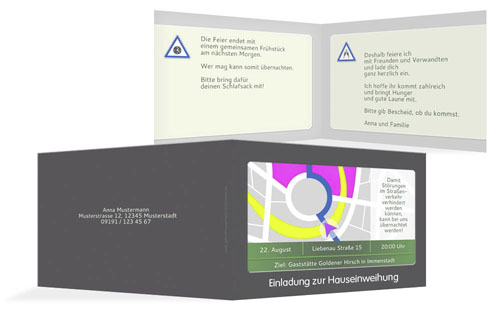 einladungskarten zur hauseinweihung | druckstdu.de, Einladungen