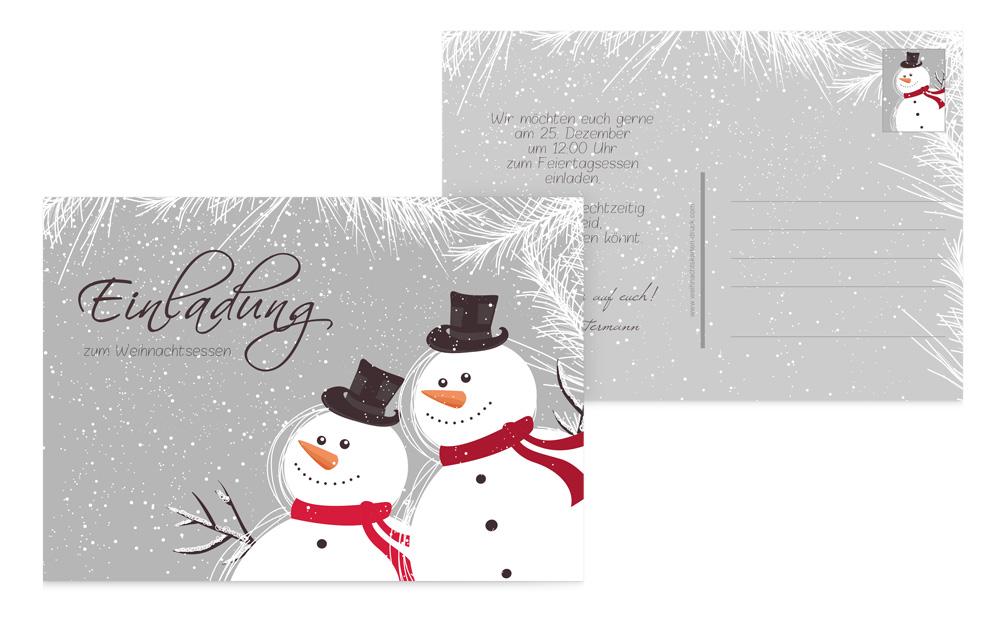 originelle einladungskarten zu weihnachten. Black Bedroom Furniture Sets. Home Design Ideas