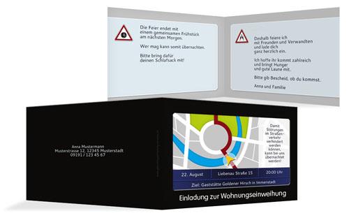 Einladungskarte zur Wohnungseinweihnung| druckstdu.de