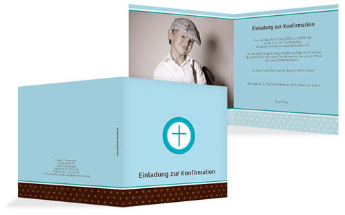 konfirmationskarten gestalten | druckstdu.de, Kreative einladungen